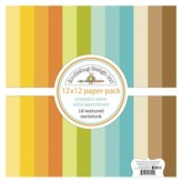 Doodlebug Textured Double-Sided Cardstock 12X12 Pack-Pumpkin Spice