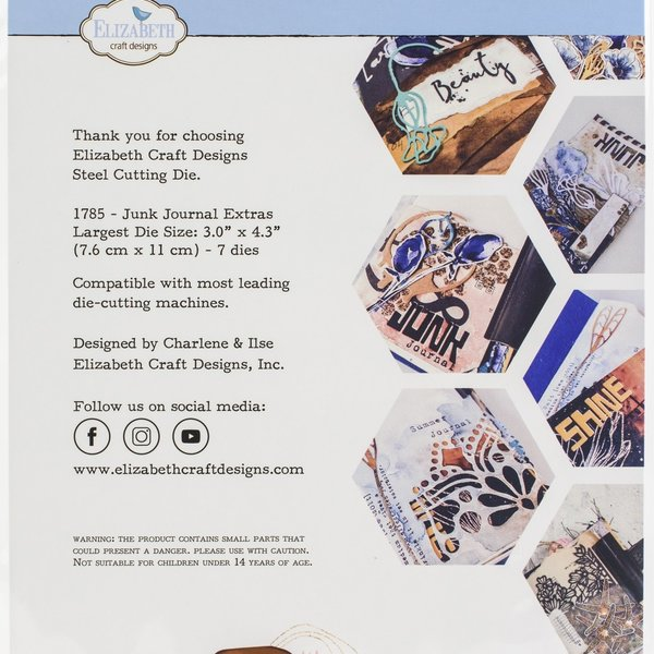 Elizabeth Craft Designs Metal Die (junk journal extras-art journal)