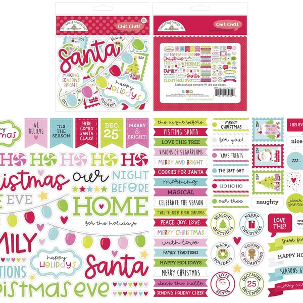 Doodlebug Odds & Ends Chit Chat Die-Cuts-Night Before Christmas