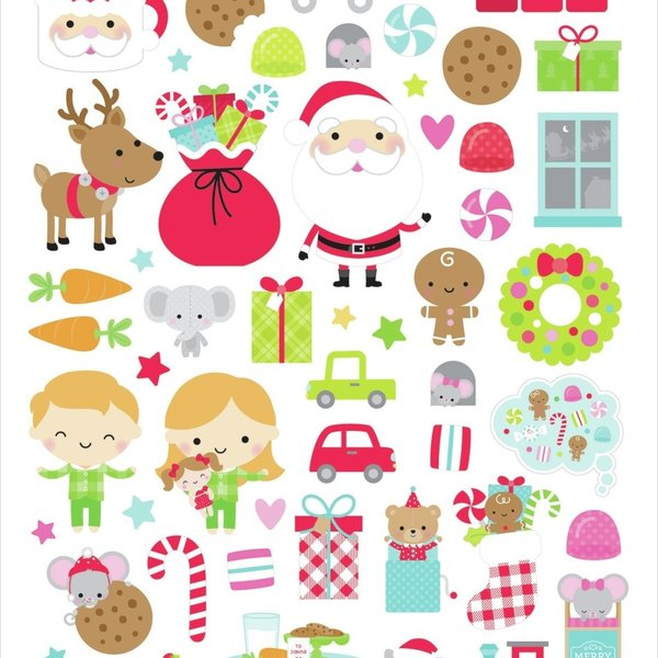 Doodlebug Cardstock Stickers 6X13-Night Before Christmas Icons