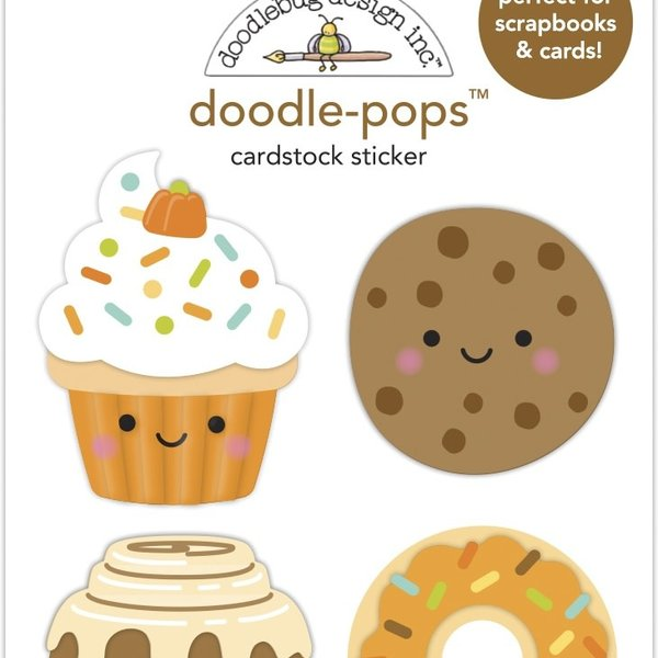 Doodlebug Doodle-Pops 3D Stickers - Pumpkin Spice (fall treats)