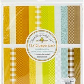 Doodlebug Petite Prints Double-Sided Cardstock 12X12 12/Pk-Pumpkin Spice, 12 Designs/1 Each