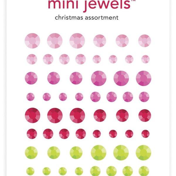 Doodlebug Adhesive Mini Jewels-Christmas Assortment