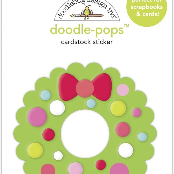 Doodlebug Doodle-Pops 3D Stickers - Night Before Christmas (welcome christmas)