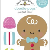 Doodlebug Doodle-Pops 3D Stickers - Night Before Christmas (goody goody gumdrops)