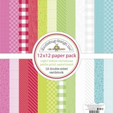 Doodlebug Petite Prints Double-Sided Cardstock 12X12 12/Pk-Night Before Christmas, 12 Designs/1 Ea