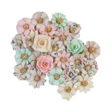 Prima Marketing Mulberry Paper Flowers (pink christmas/sugar cookie)
