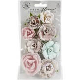 Prima Marketing Mulberry Paper Flowers (santa baby/sugar cookie)