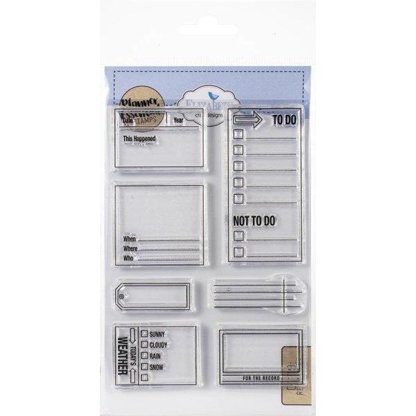 Elizabeth Craft Designs Clear Stamps (reminders)