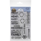 Elizabeth Craft Designs Clear Stamps (retro labels sayings)