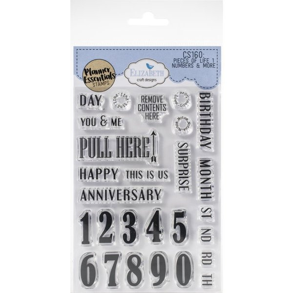 Elizabeth Craft Designs Clear Stamps (numbers & more)