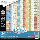 Ciao Bella Double-Sided Paper Pack 90lb 6X6 24/Pkg-Under The Ocean, 12 Designs/2 Each