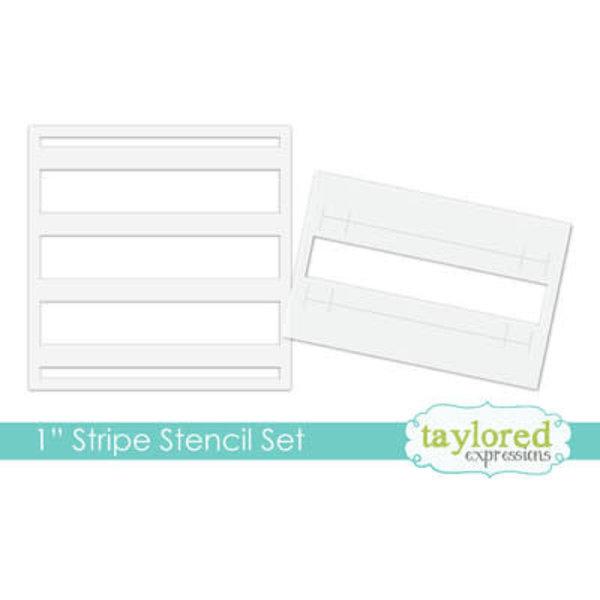 """Taylored Expressions Stencil 6x6 (1"""" strip set)"""