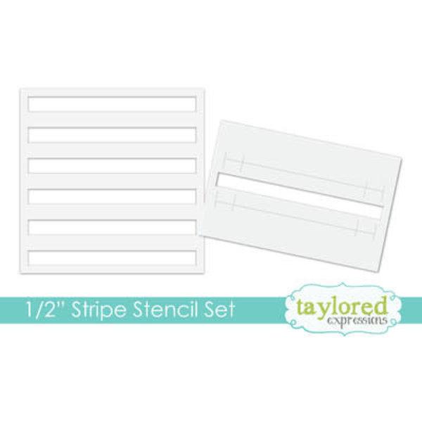"""Taylored Expressions Stencil 6x6 (1/2"""" strip set)"""