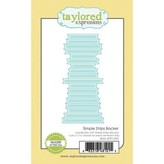 Taylored Expressions Die (simple strips backer)
