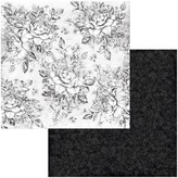 BoBunny Double-Sided Cardstock 12x12 - Tuxedos & Tiaras (roses)