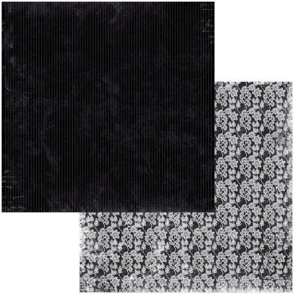 BoBunny Double-Sided Cardstock 12x12 - Tuxedos & Tiaras (pinstripes)