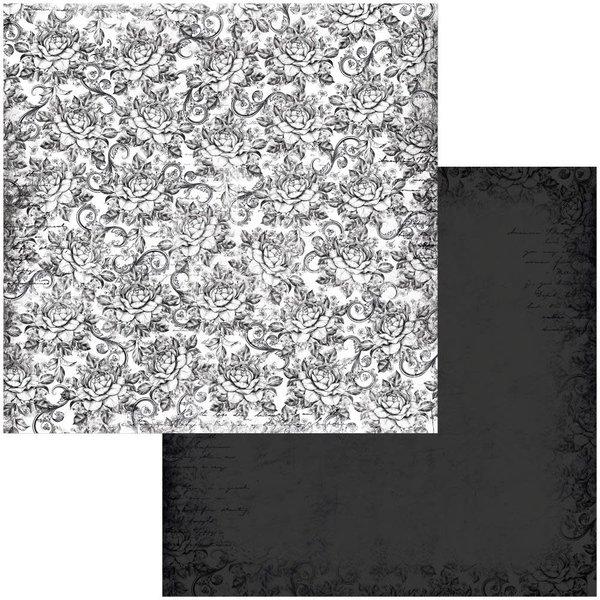 BoBunny Double-Sided Cardstock 12x12 - Tuxedos & Tiaras (dress)