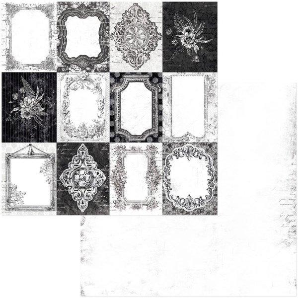 BoBunny Double-Sided Cardstock 12x12 - Tuxedos & Tiaras (frames)