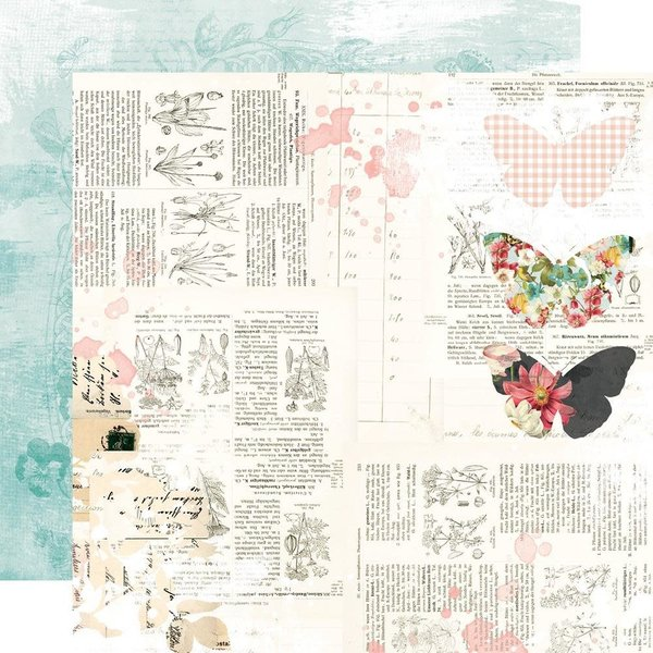 Simple Stories Double-Sided Cardstock 12X12 - Simple Vintage Cottage Fields (sweet life)