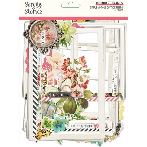 Simple Stories Chipboard Frames (simple vintage cottage fields)