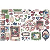 Graphic 45 Cardstock Die-Cut Assortment (blossom)