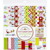 Doodlebug Double-Sided Paper Pack 12X12 (night before christmas)