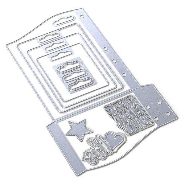 Elizabeth Craft Designs Metal Die (planner essentials 30) (wave pocket)