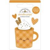 Doodlebug Doodle-Pops 3D Stickers - Pumpkin Spice (pumpkin spice)