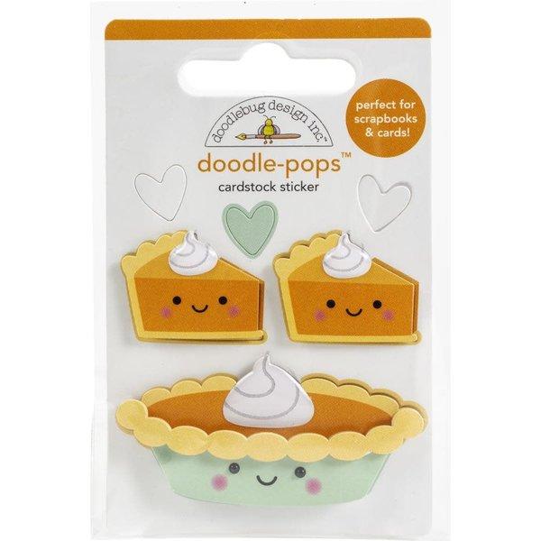Doodlebug Doodle-Pops 3D Stickers - Pumpkin Spice (pumpkin pie)