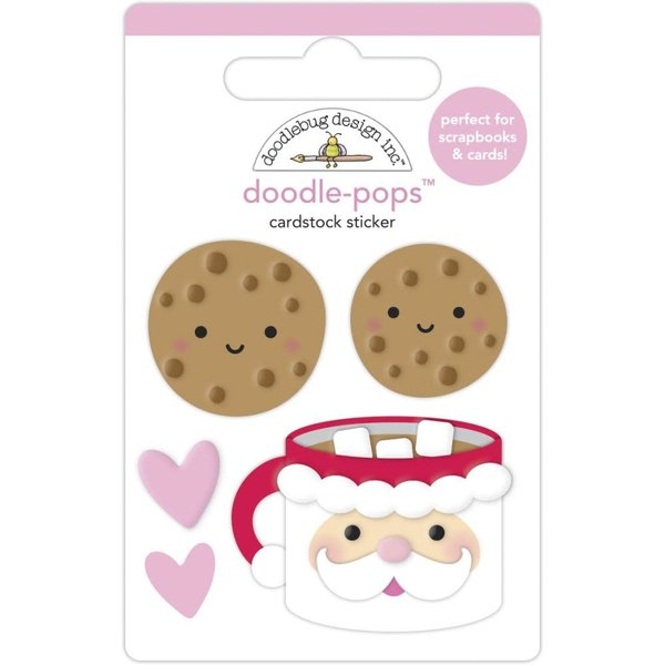 Doodlebug Doodle-Pops 3D Stickers - Night Before Christmas (cookies for santa)