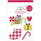 Doodlebug Doodle-Pops 3D Stickers - Night Before Christmas (stocking stuffers)