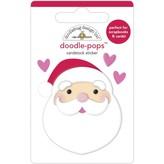 Doodlebug Doodle-Pops 3D Stickers - Night Before Christmas (i love santa)