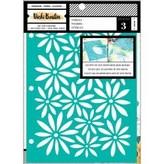 American Crafts Vicki Boutin Mixed Media Stencils 3/Pkg (wildflower & honey)