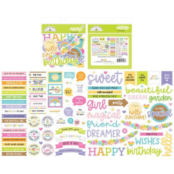 Doodlebug Odds & Ends Chit Chat Die-Cuts (fairy garden)