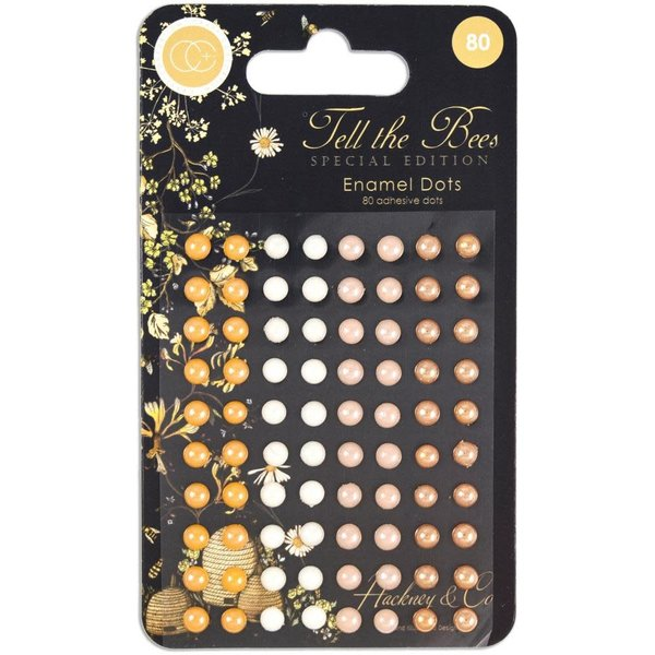 Craft Consortium Adhesive Enamel Dots Assorted Colors (tell the bees - special edition)
