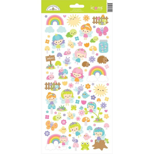 Doodlebug Cardstock Stickers 6x13 (fairy garden)