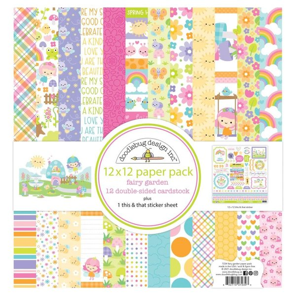Doodlebug Paper Pack 12x12 (fairy garden)