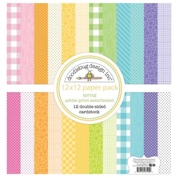 Doodlebug Petite Prints Cardstock 12x12 (spring)(fairy garden)
