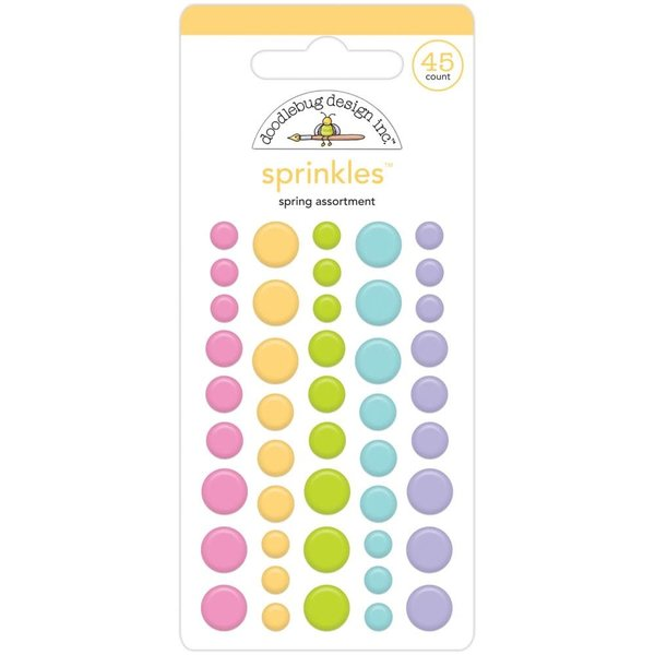 Doodlebug Sprinkles Adhesive Enamel Dots (spring assortment)(fairy garden)
