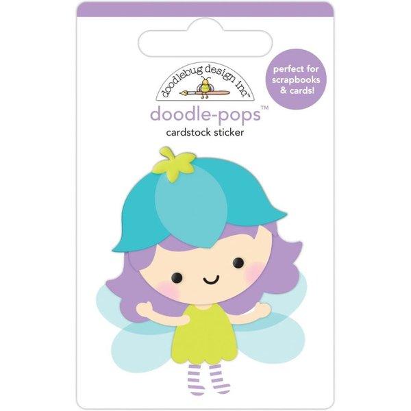 Doodlebug Doodle-Pops 3D Stickers - Fairy Garden (blossom)