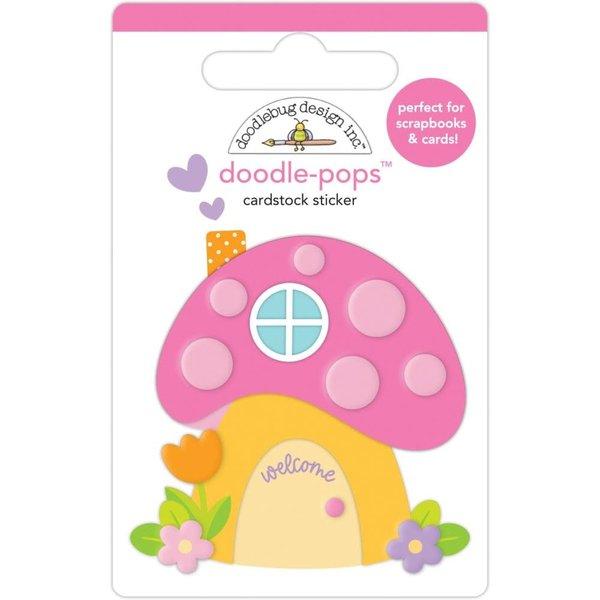 Doodlebug Doodle-Pops 3D Stickers - Fairy Garden (fairy house)