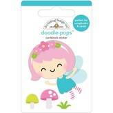 Doodlebug Doodle-Pops 3D Stickers - Fairy Garden (pixie)