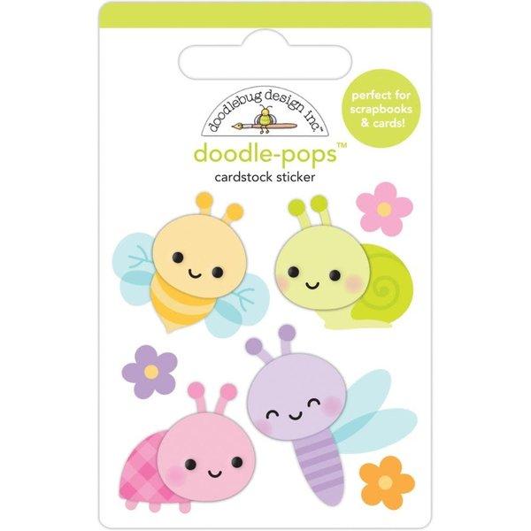 Doodlebug Doodle-Pops 3D Stickers - Fairy Garden (bug babies)