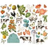 Simple Stories Simple Vintage Bits & Pieces Die-Cuts (garden)(farmhouse garden)