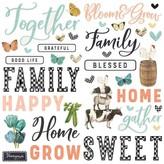 Simple Stories Simple Vintage Foam Stickers (farmhouse garden)