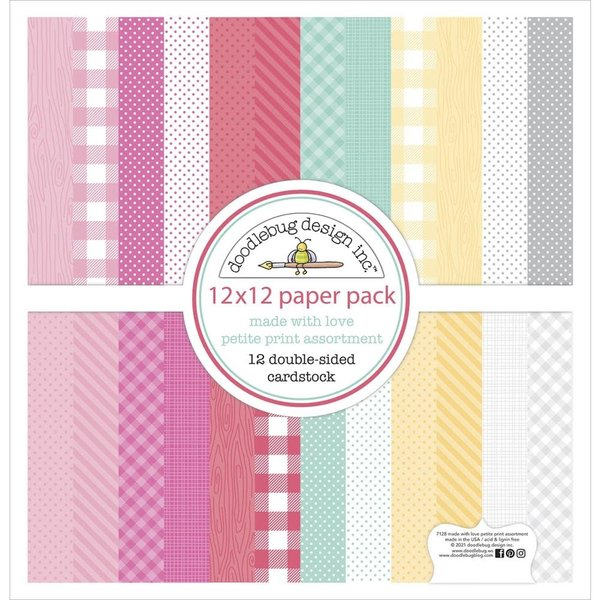 Doodlebug Petite Prints Cardstock 12x12 (made with love)