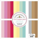 Doodlebug Textured Cardstock Pack 12X12 (made with love)