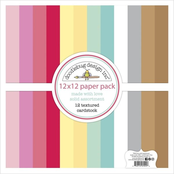 Doodlebug Textured Cardstock 12X12 (made with love)