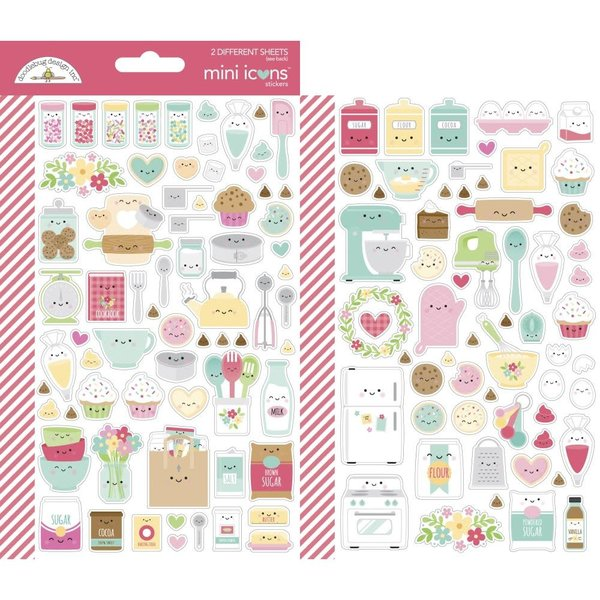 Doodlebug Mini Cardstock Stickers (made with love)